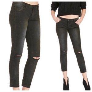 NWT One Teaspoon Distressed Black Skinny Jeans